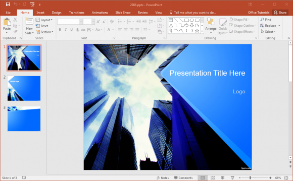 0052 Free Corporate Powerpoint Template Fppt