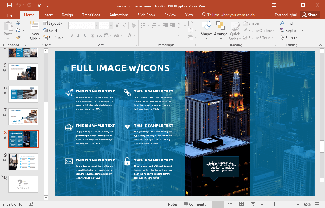 Animated Modern Image Layout PowerPoint Template