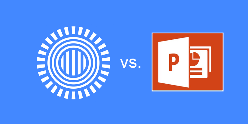 Prezi vs powerpoint which is better prezi logo vs powerpoint logo stopboris Images