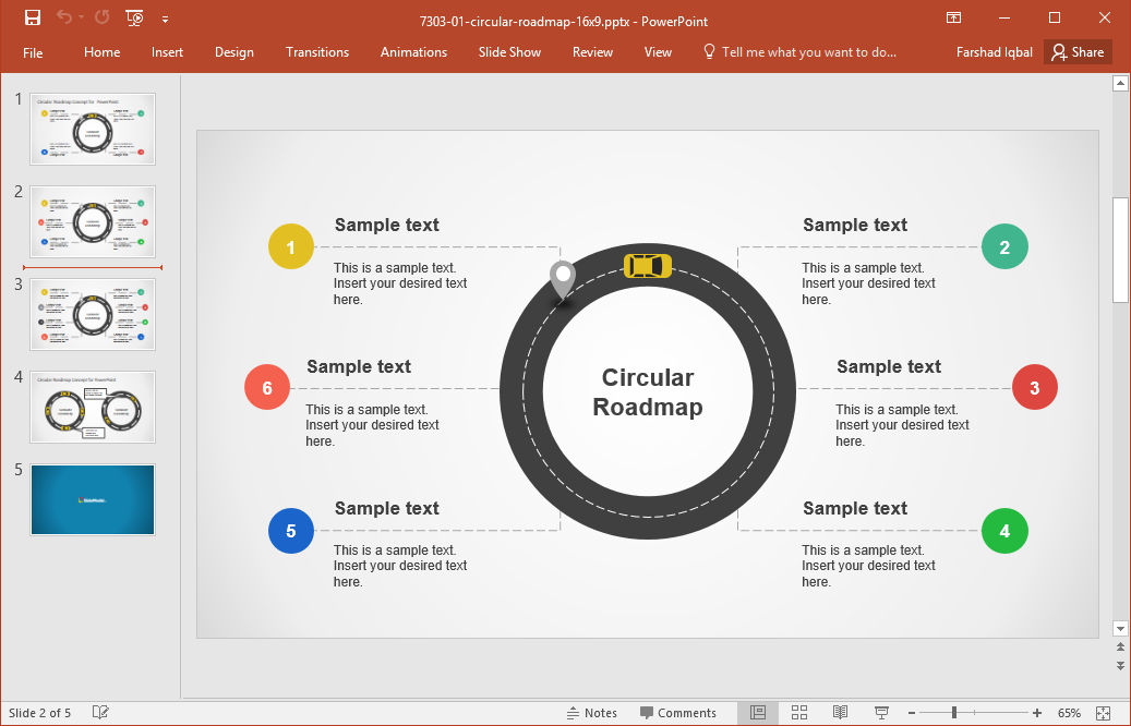 Marvelous Circular Roadmap Template