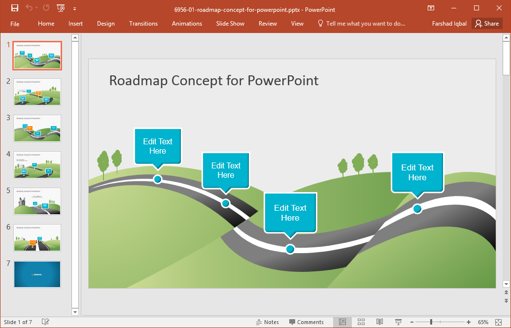 Best roadmap templates for powerpoint go to download creative roadmap concept powerpoint template roadmap concept for presentations toneelgroepblik Gallery