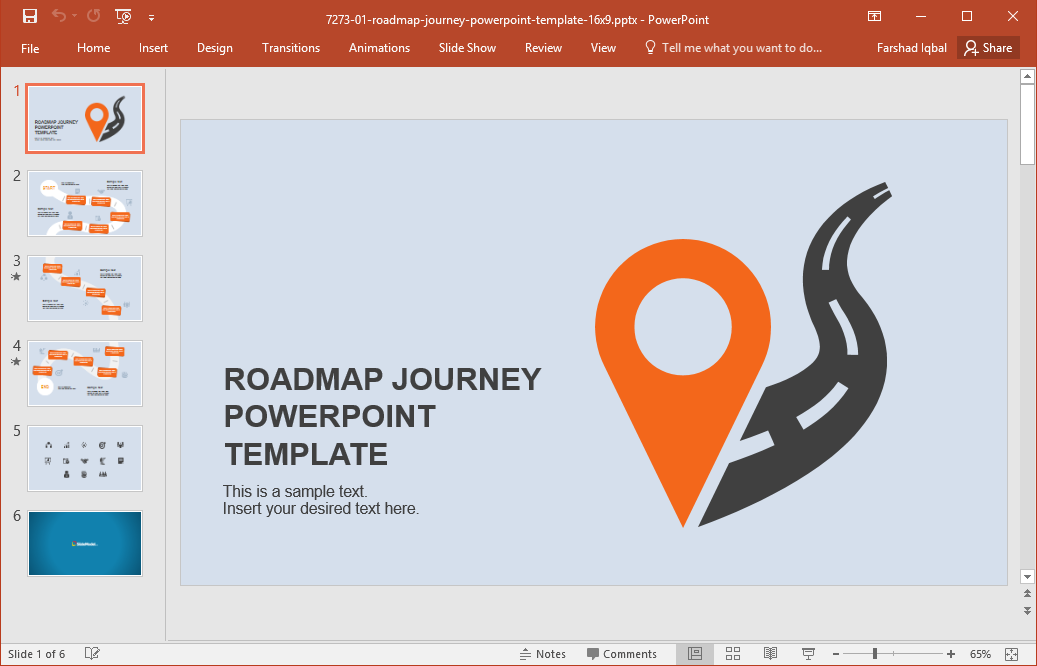 best roadmap templates for powerpoint, Modern powerpoint