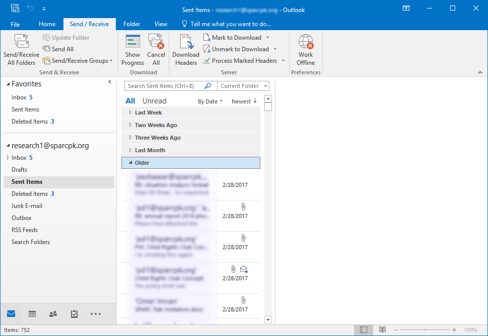 how to prevent saving sent messages in outlook 2016