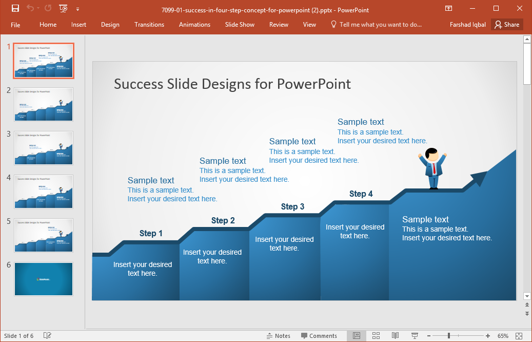 Best roadmap templates for powerpoint success slide powerpoint template maxwellsz
