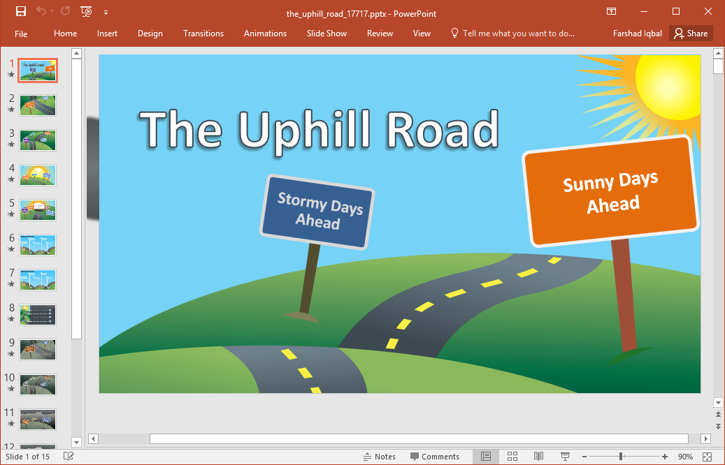Best roadmap templates for powerpoint the uphill road powerpoint template toneelgroepblik Choice Image