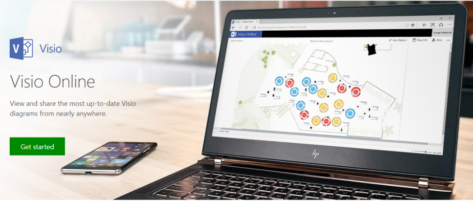 this is because visio online allows users to share and view visio diagrams without losing any quality or fidelity from any device anywhere - Office Online Visio