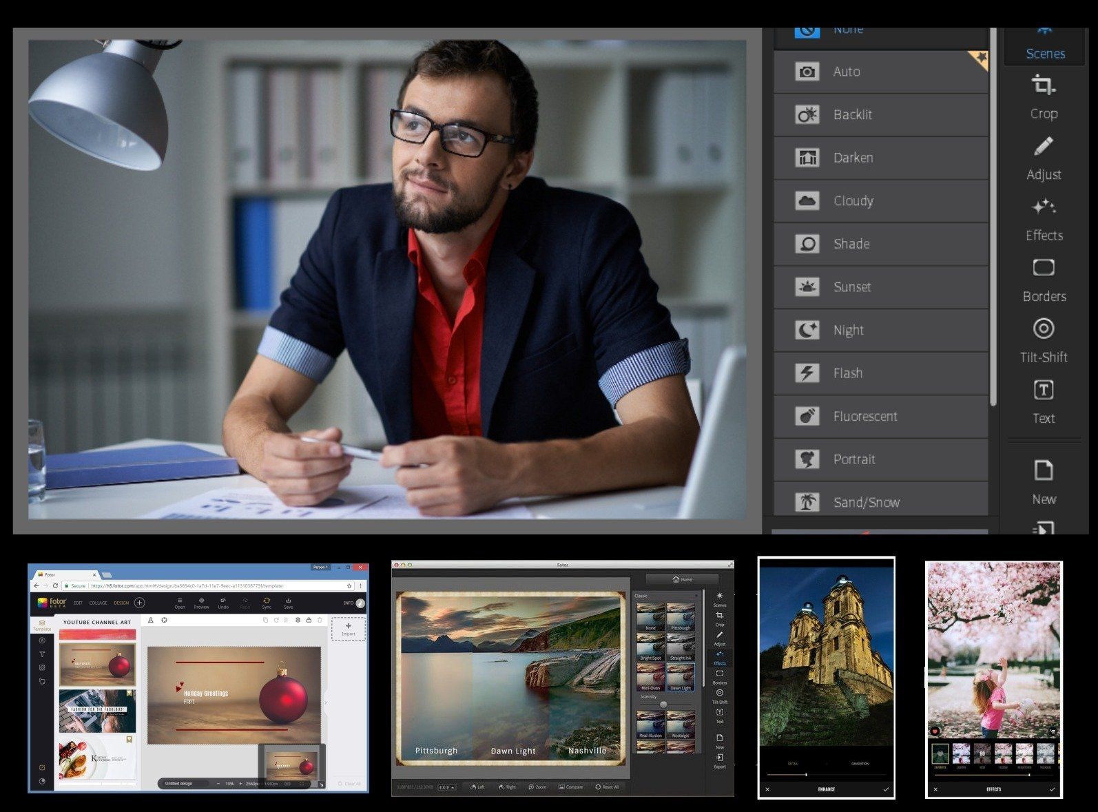 Fotor for Windows and Mac - iOS and Android