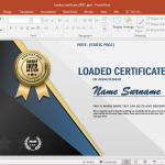 Certificate templates animated certificate powerpoint template yadclub Image collections