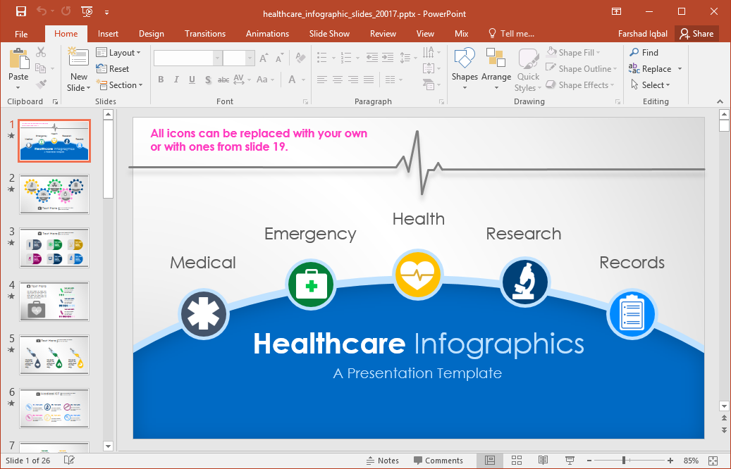 Animated healthcare infographics for powerpoint the animated healthcare template for powerpoint delivers attractive animated slide layouts with sample healthcare infographics for powerpoint that you can toneelgroepblik Choice Image