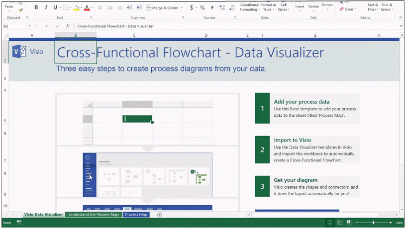 Automatically create process diagrams in visio using excel data create process diagrams through visios data visualizer feature wajeb Images