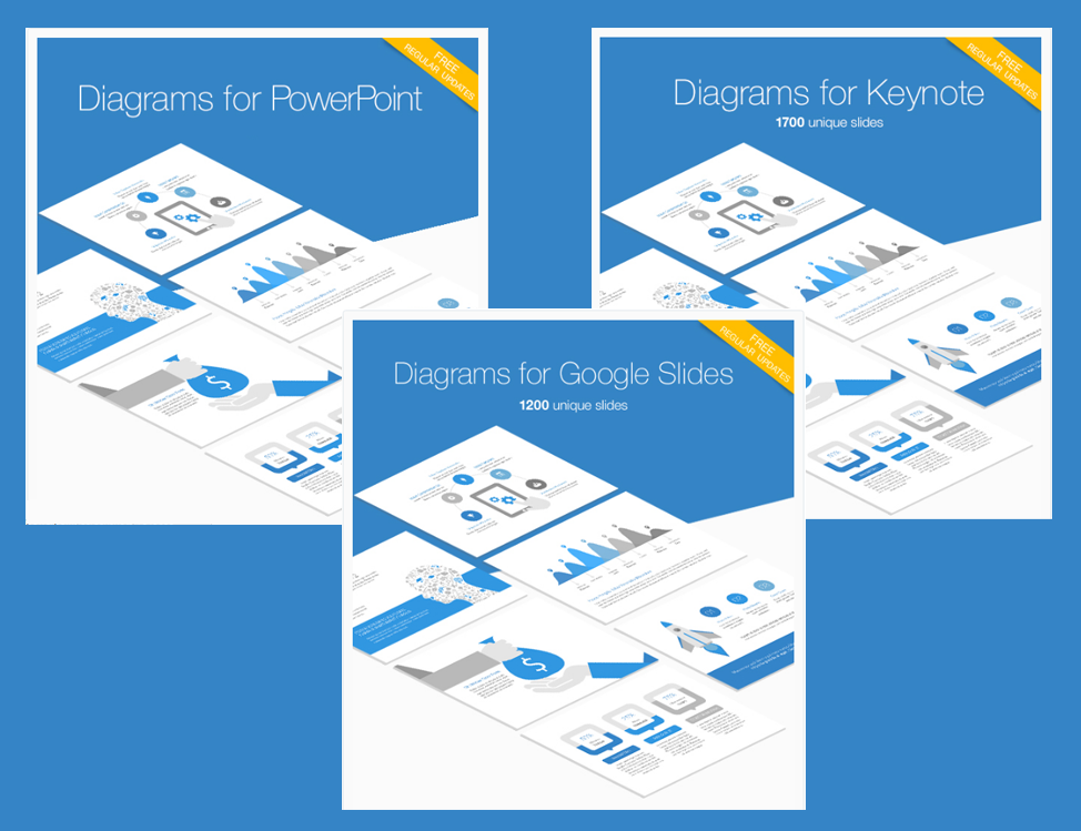 diagrams bundle for powerpoint, keynote and google slides