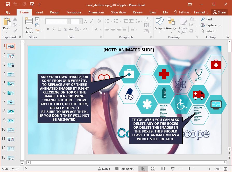 Animated medical images powerpoint template infographic like slide designs toneelgroepblik Images