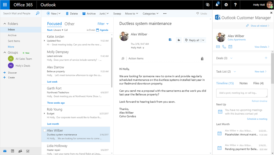 outlook email templates free - outlook customer manager makes customer management more