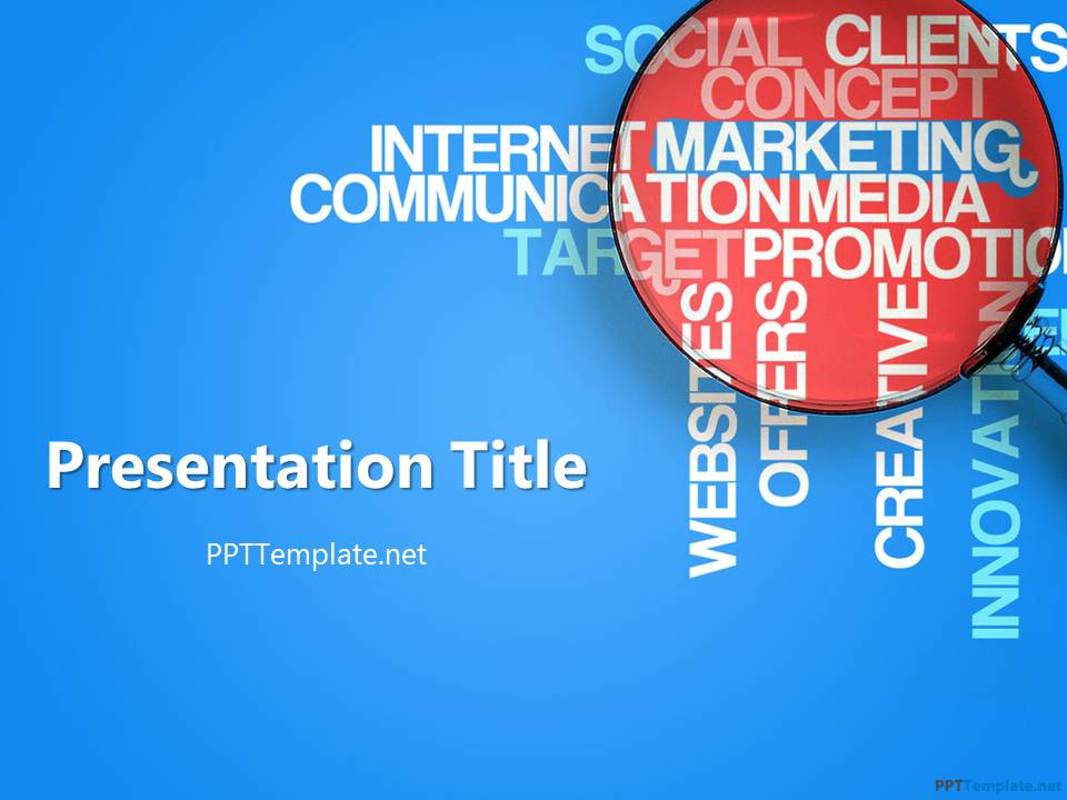 10 best powerpoint templates for presentations on digital marketing free marketing ppt template toneelgroepblik Choice Image