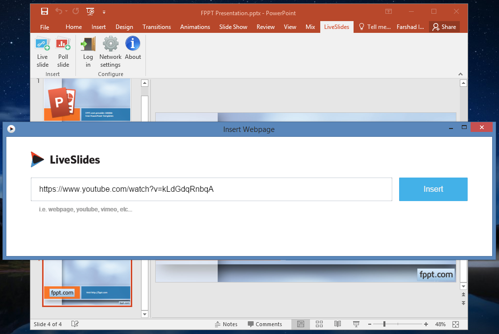 Embed Webpages and Videos in PowerPoint & Keynote With