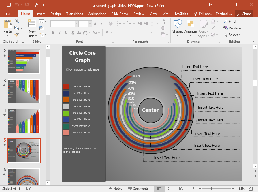 assorted graphs for powerpoint