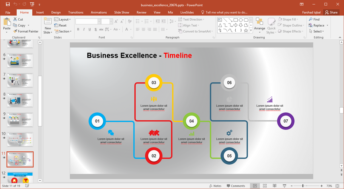 Animated Business Excellence Template For PowerPoint