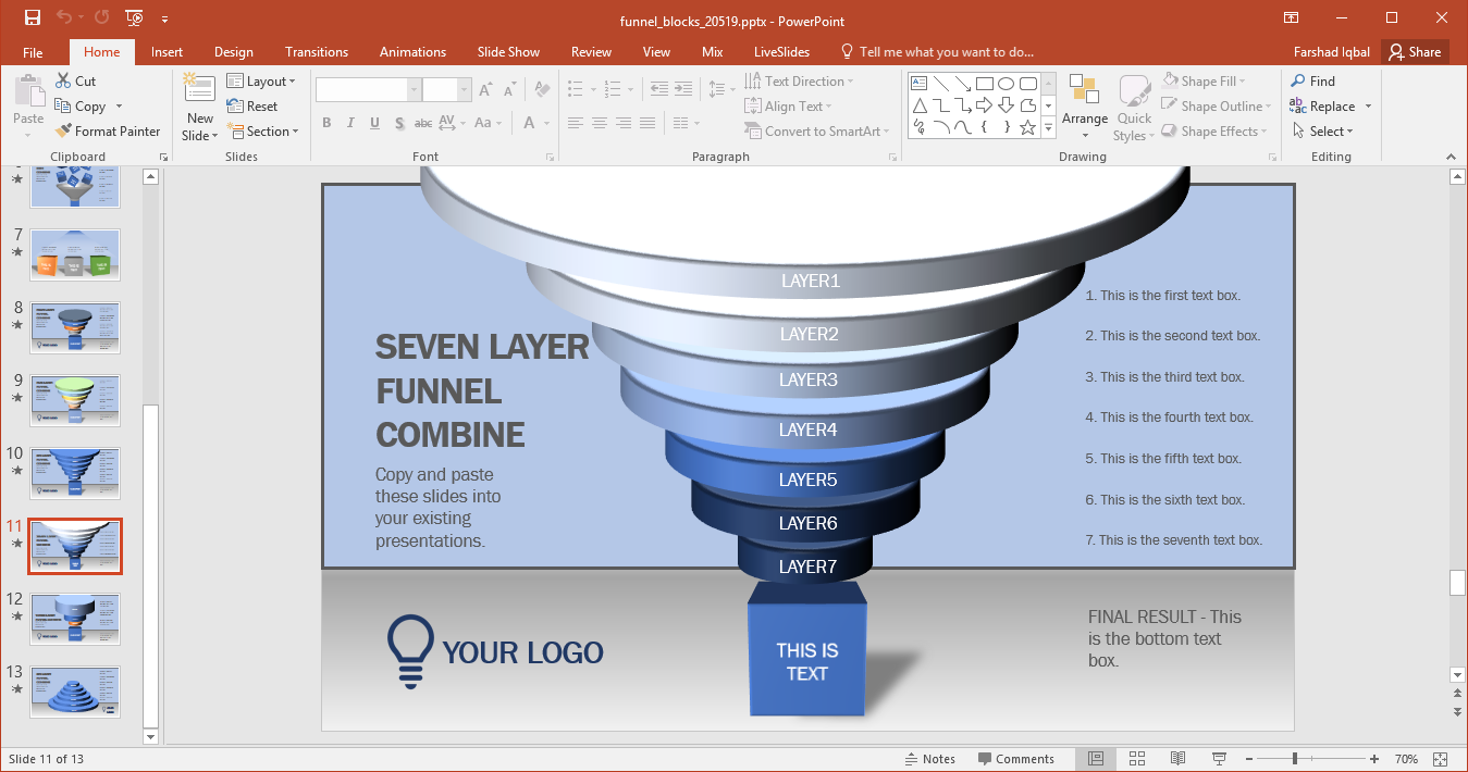 Animated funnel blocks powerpoint template go to presenter media animated funnel blocks powerpoint template alramifo Images