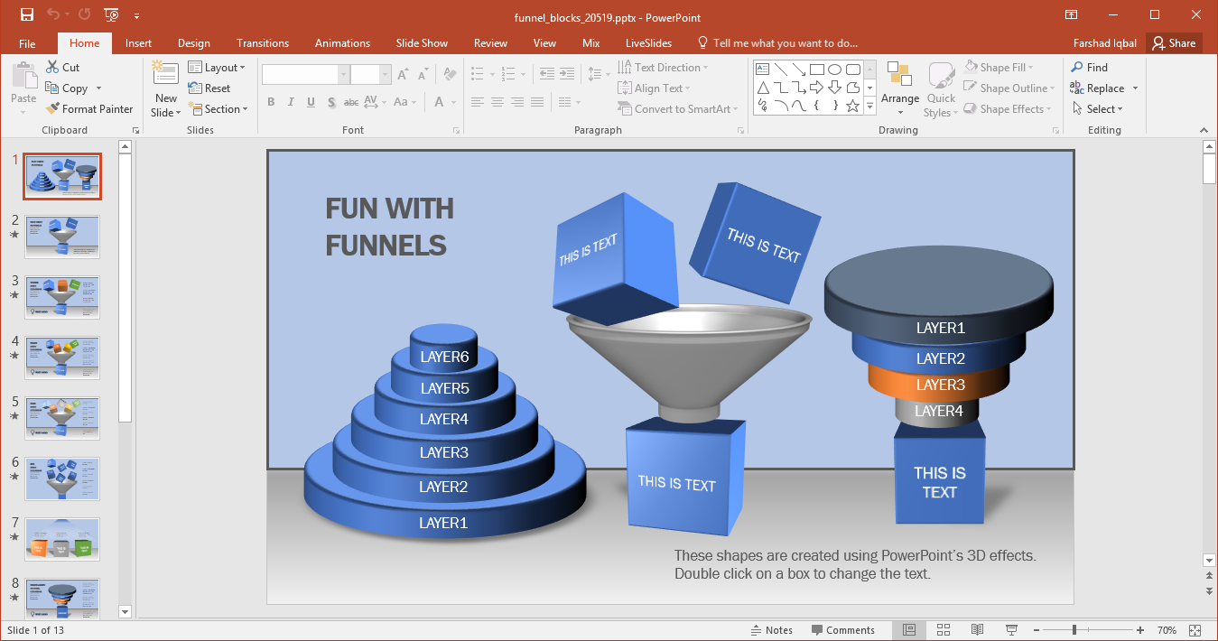 Animated funnel blocks powerpoint template what makes this template different from other funnel diagram templates is the inclusion of blocks to the editable funnel diagrams ccuart