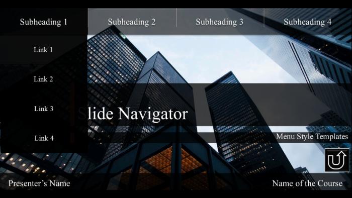 interactive menus in powerpoint