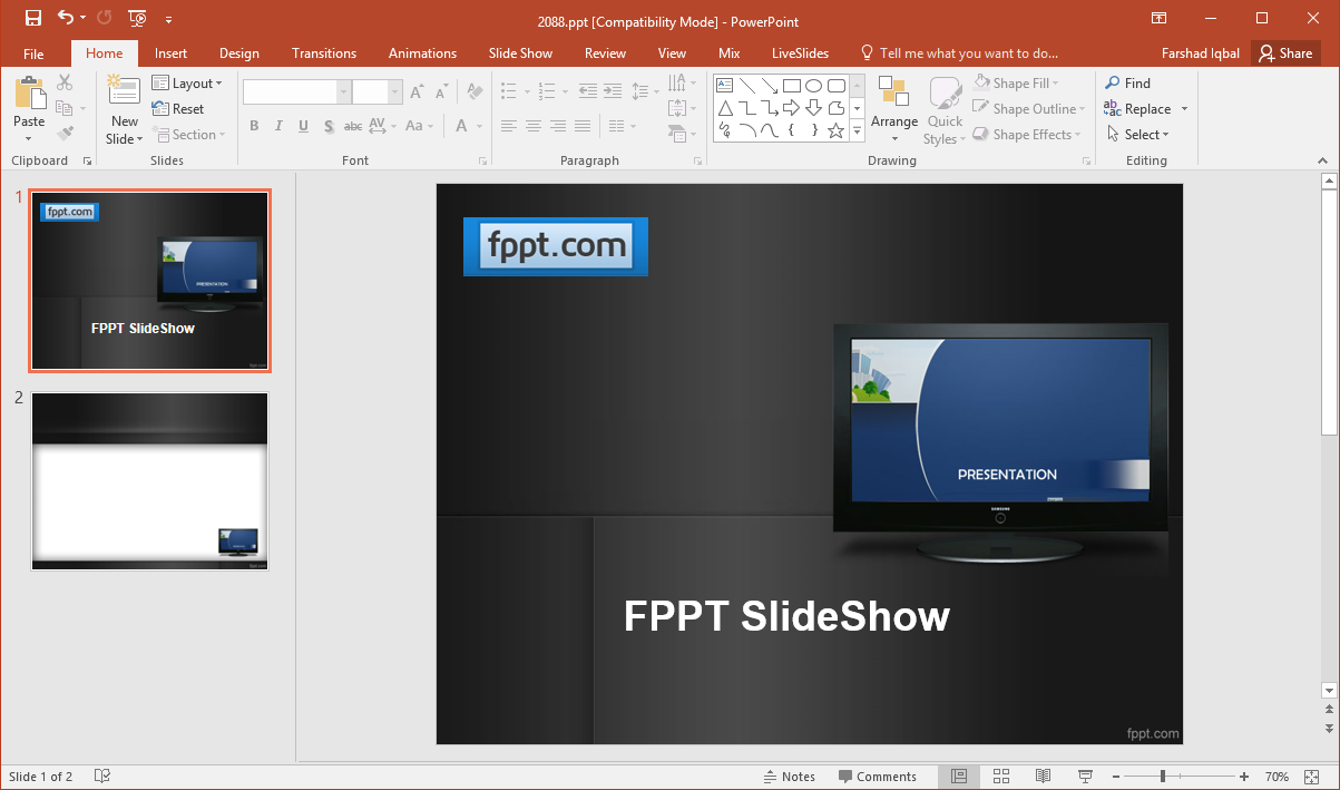 using powerpoint for digital signage, Modern powerpoint