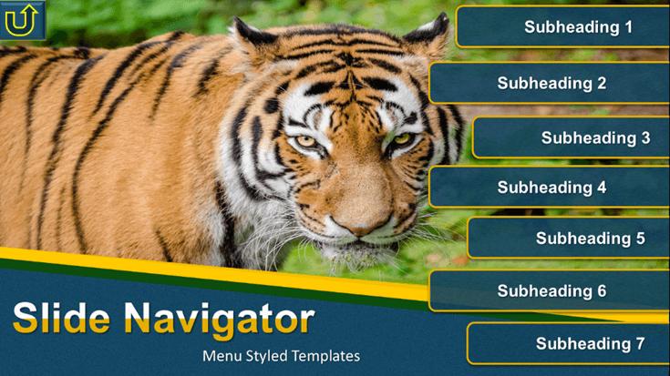 website like slide menus