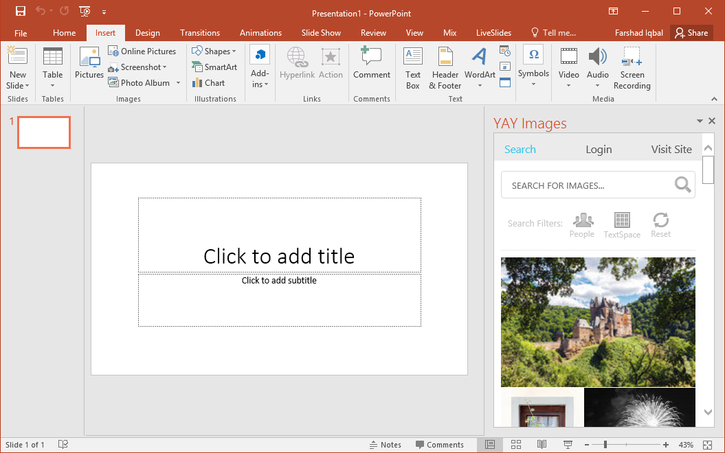 yay images add-in for powerpoint