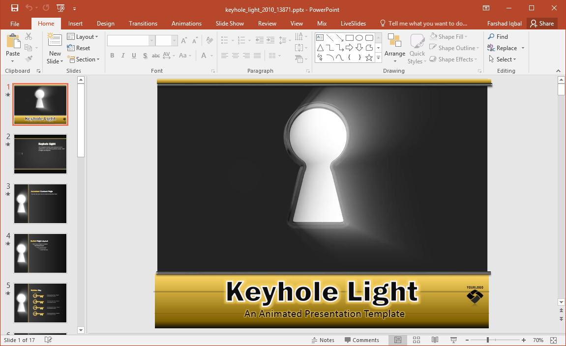 animated keyhole powerpoint template