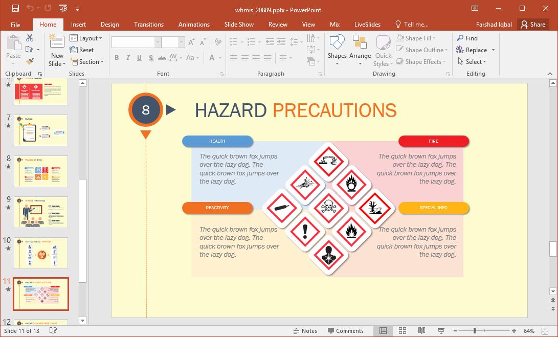 hazard precautions