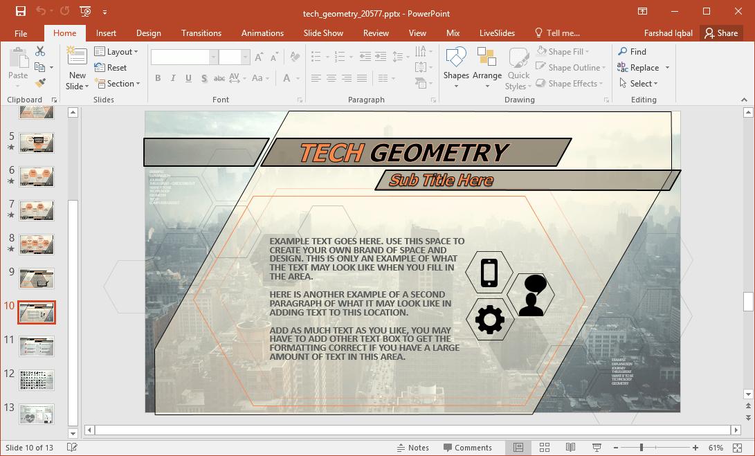 tech themed slide deck