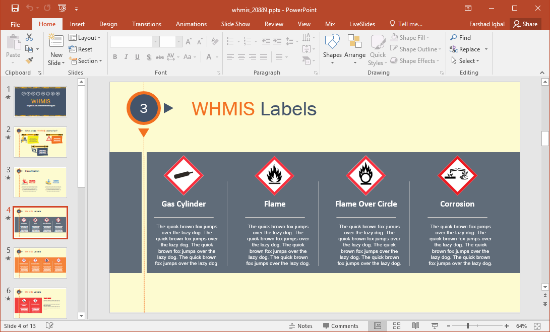 Animated whmis powerpoint template for Whmis labels template