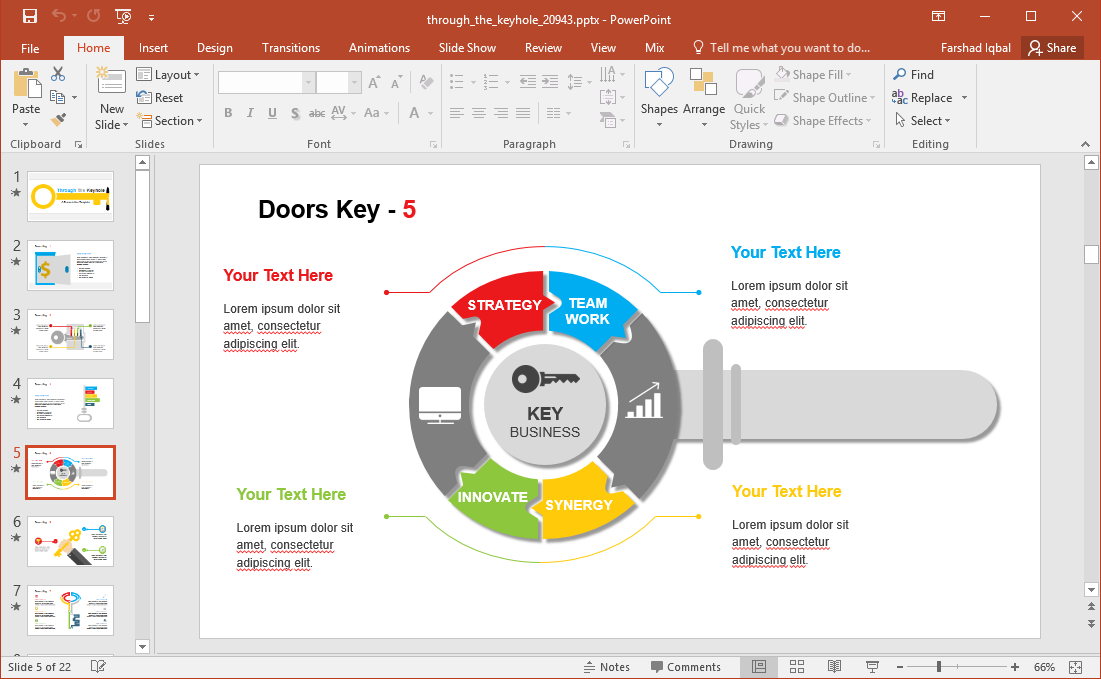 Through the keyhole powerpoint template for How to design your own powerpoint template
