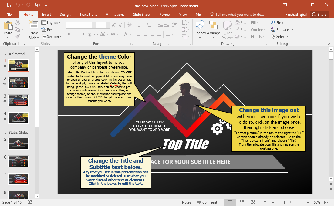 black powerpoint template
