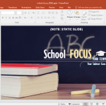 school focus powerpoint template with books background