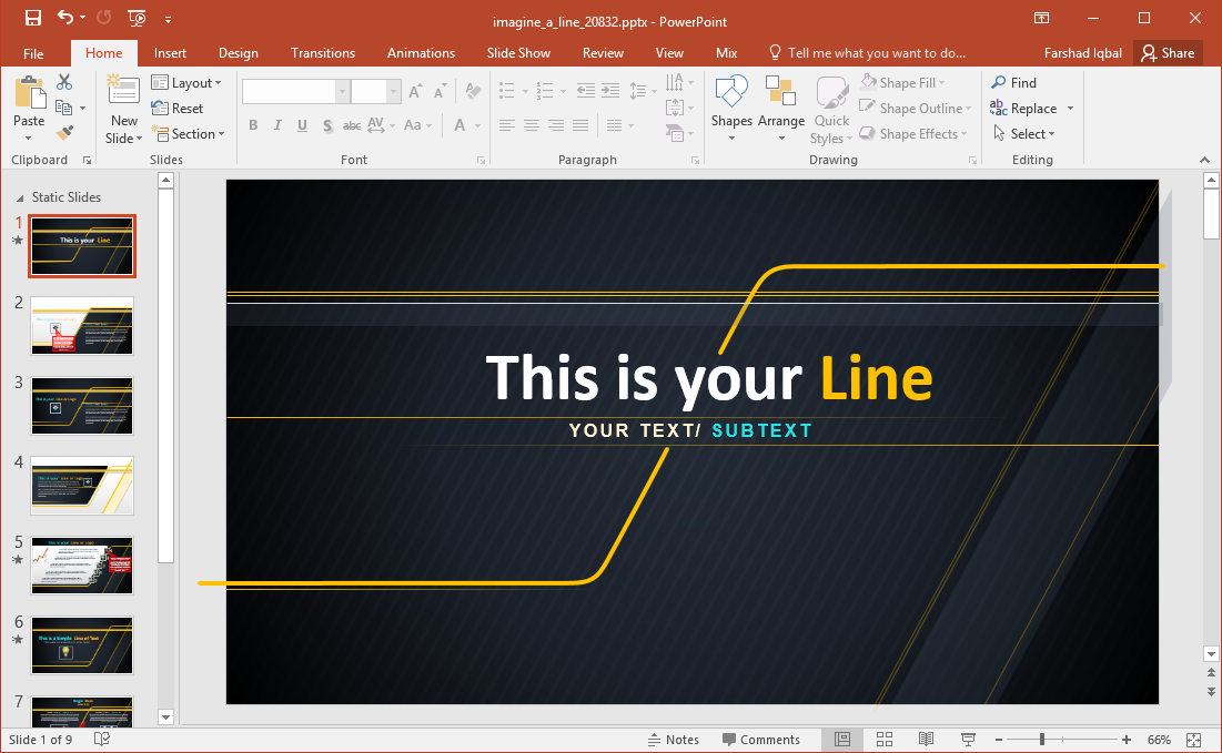 simple animated powerpoint template