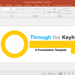 through the keyhole powerpoint template