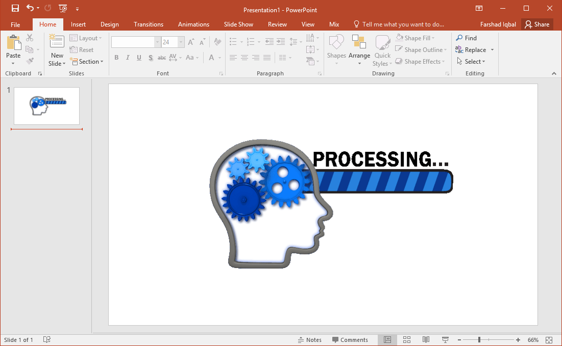 brain processing clipart