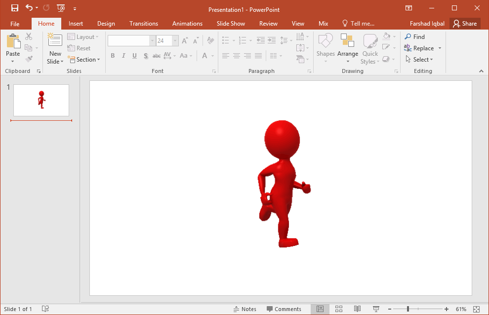 red leader running alone clipart