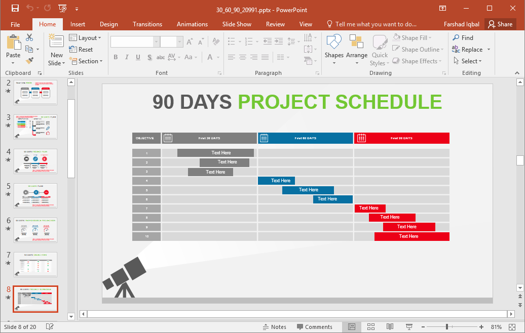 90 day plan templates for powerpoint