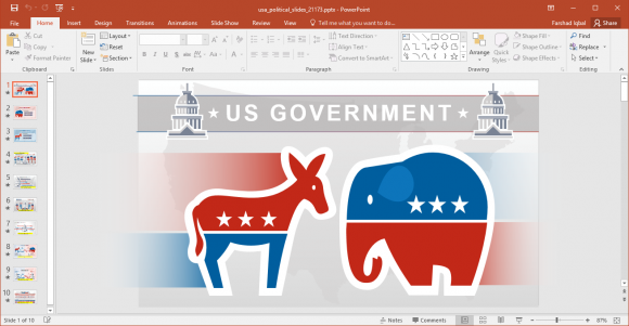 Political Parties In Usa Powerpoint Template Fppt