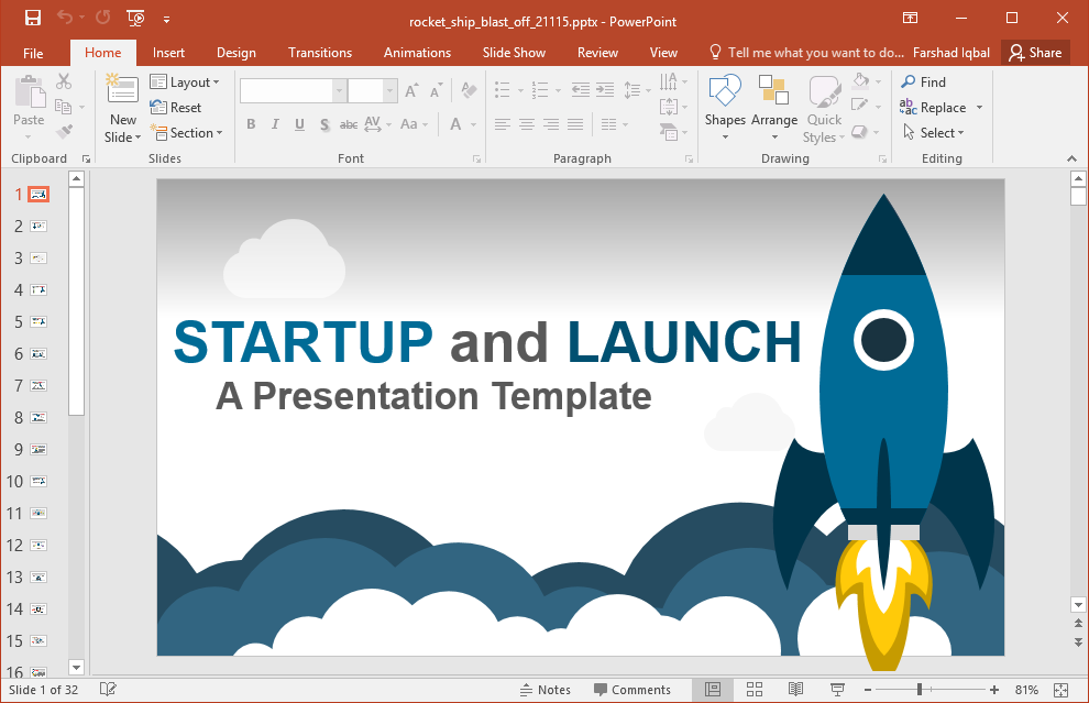 animated business startup powerpoint template