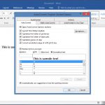 How to set automatic formatting for words and phrases in word