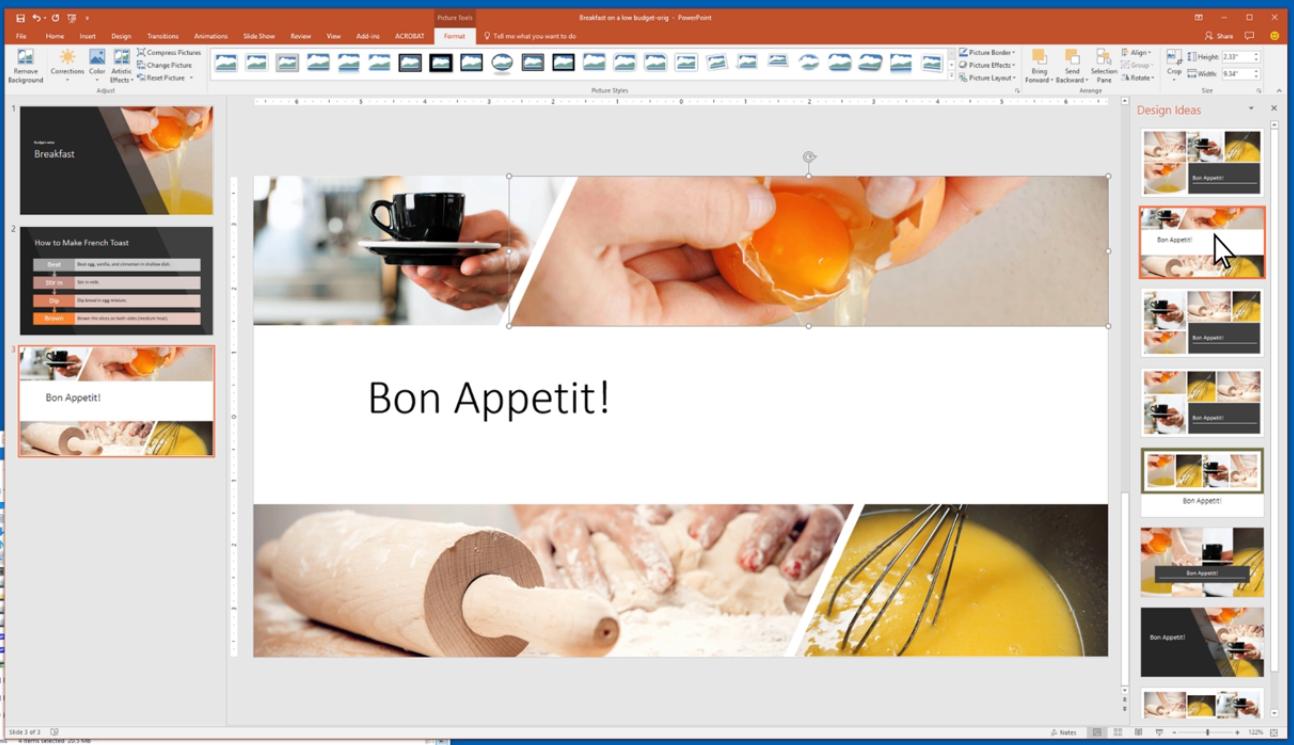 powerpoint designer feature