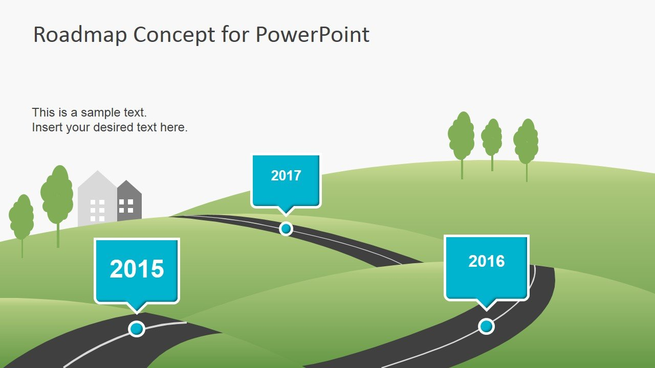 roadmap concept for powerpoint fppt