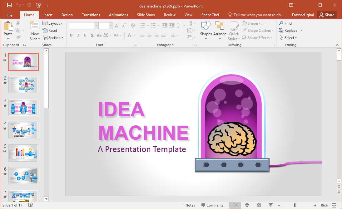 Animated Idea Machine PowerPoint Template
