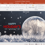 Animated Winter and Holiday Season PowerPoint Template