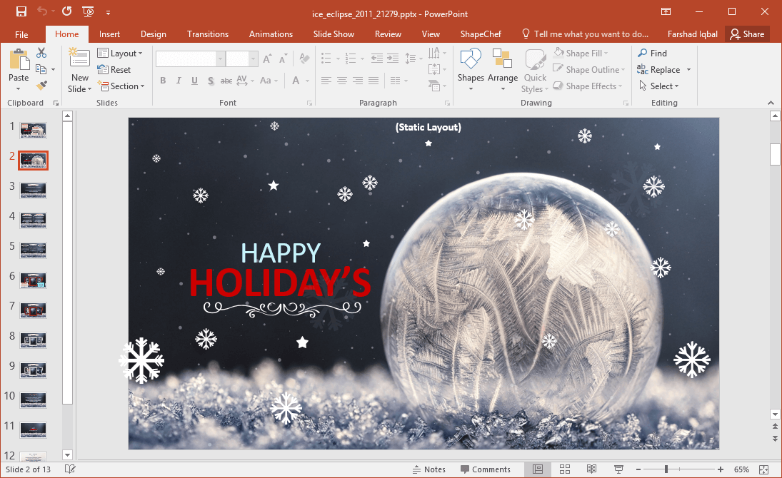 Winter and holiday season powerpoint template animated winter and holiday season powerpoint template toneelgroepblik Image collections