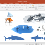 Best Shark Silhouettes for PowerPoint Presentations