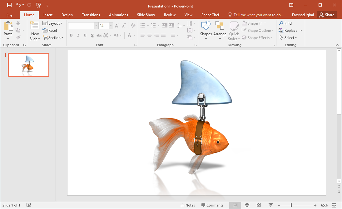 Clever Goldfish Shark Clipart