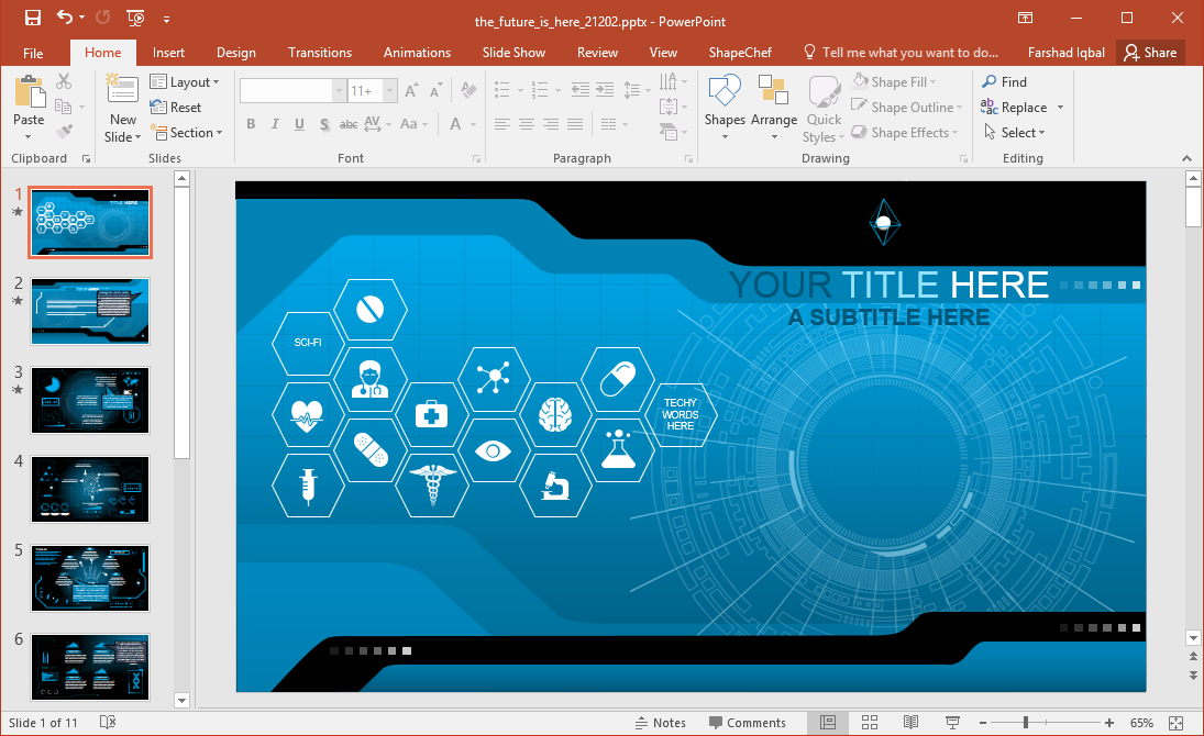 Powerpoint dashboard template free